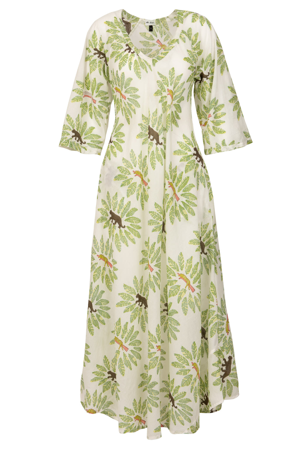 Anna Cotton Dress- Jungle Cat