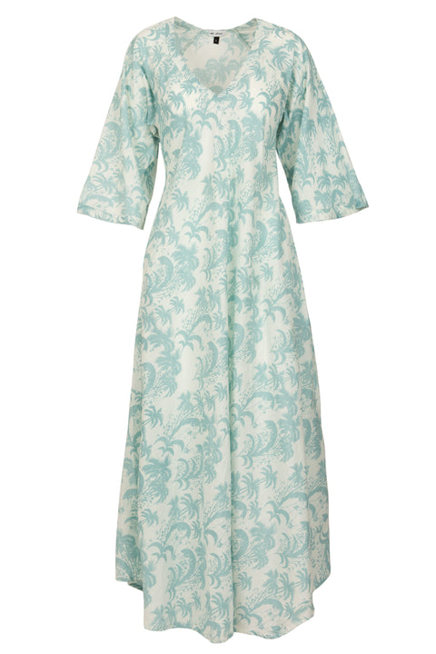 Anna Cotton Dress- Duck Egg Blue