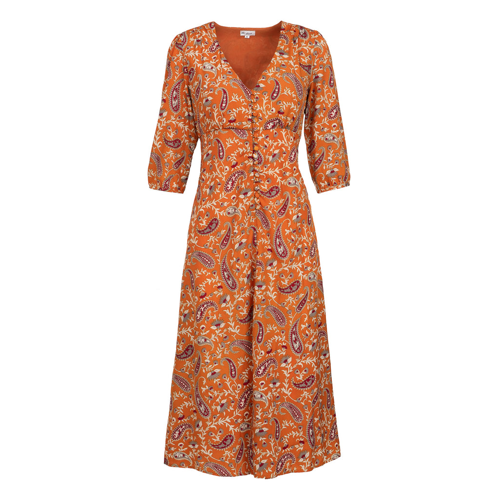 Belgravia Dress - Ochre Orange
