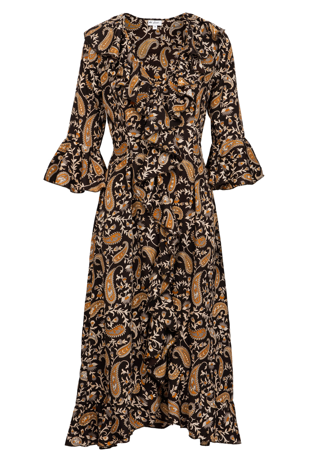 Felicity Dress - Black Paisley