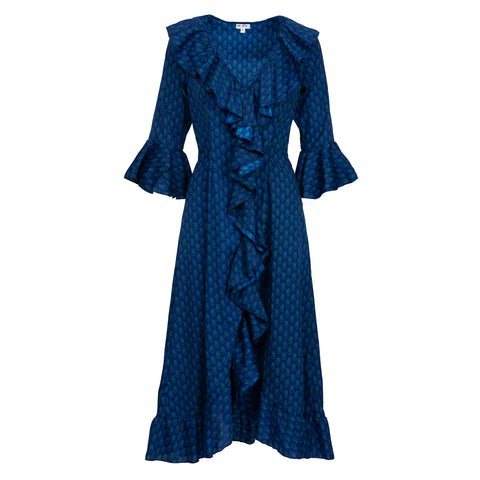 Felicity Dress - Royal Blue and Green