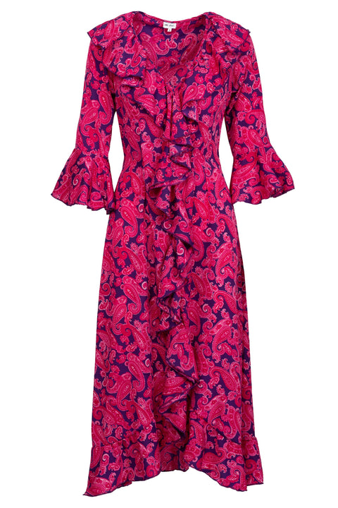 Felicity Dress - Pink and Purple Paisley