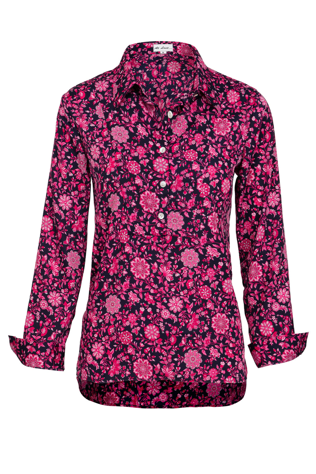 Soho Shirt with Back Detail- Pink Flower