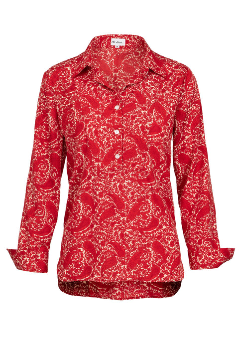 Soho Shirt with Back Detail- Red Paisley