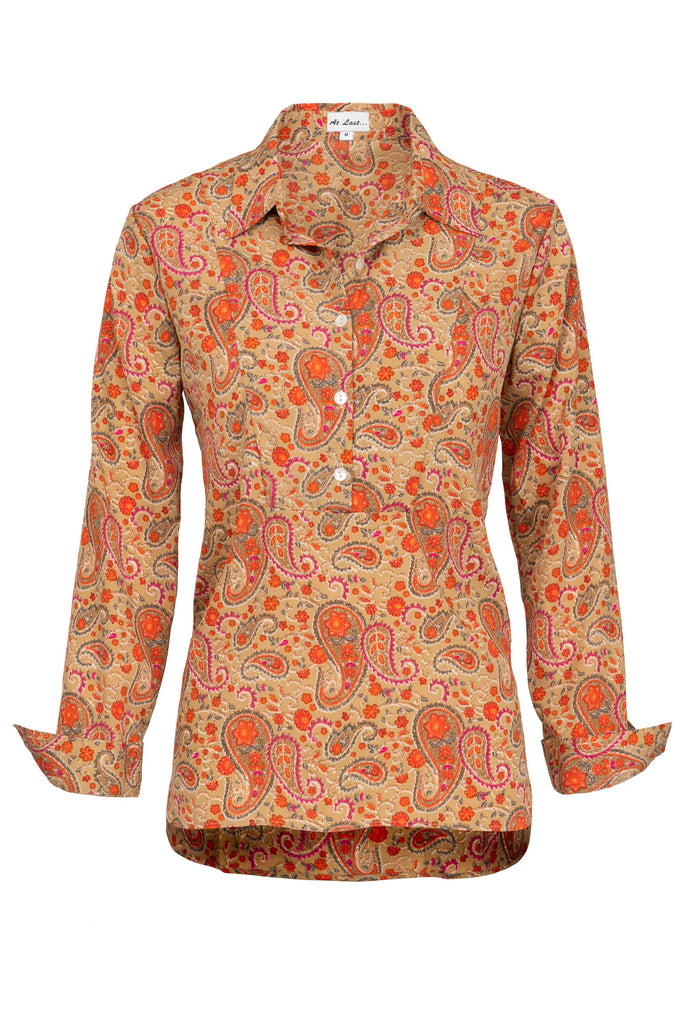 Soho Shirt with Back Detail- Hot Paisley