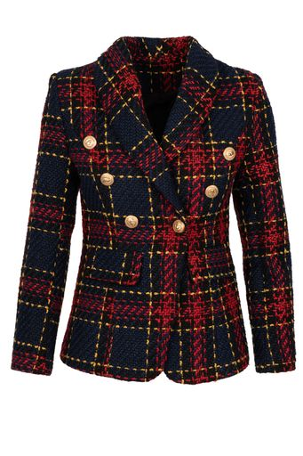 Navy and Red Tweed Jacket