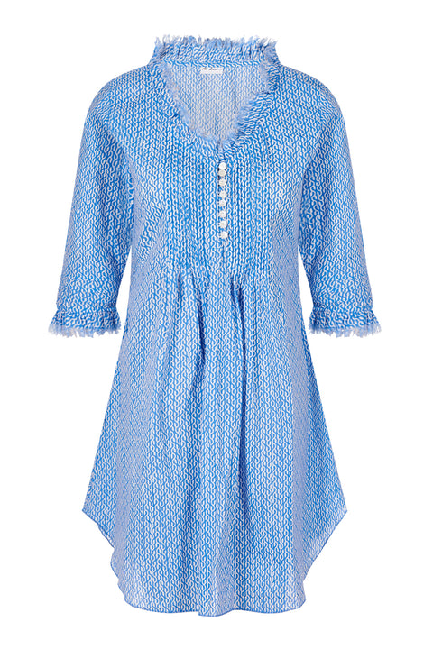 Annabel Cotton Tunic - Sky
