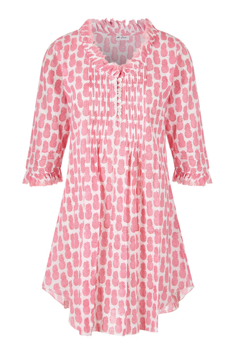 Annabel Cotton Tunic - Mini Pink Pineapples