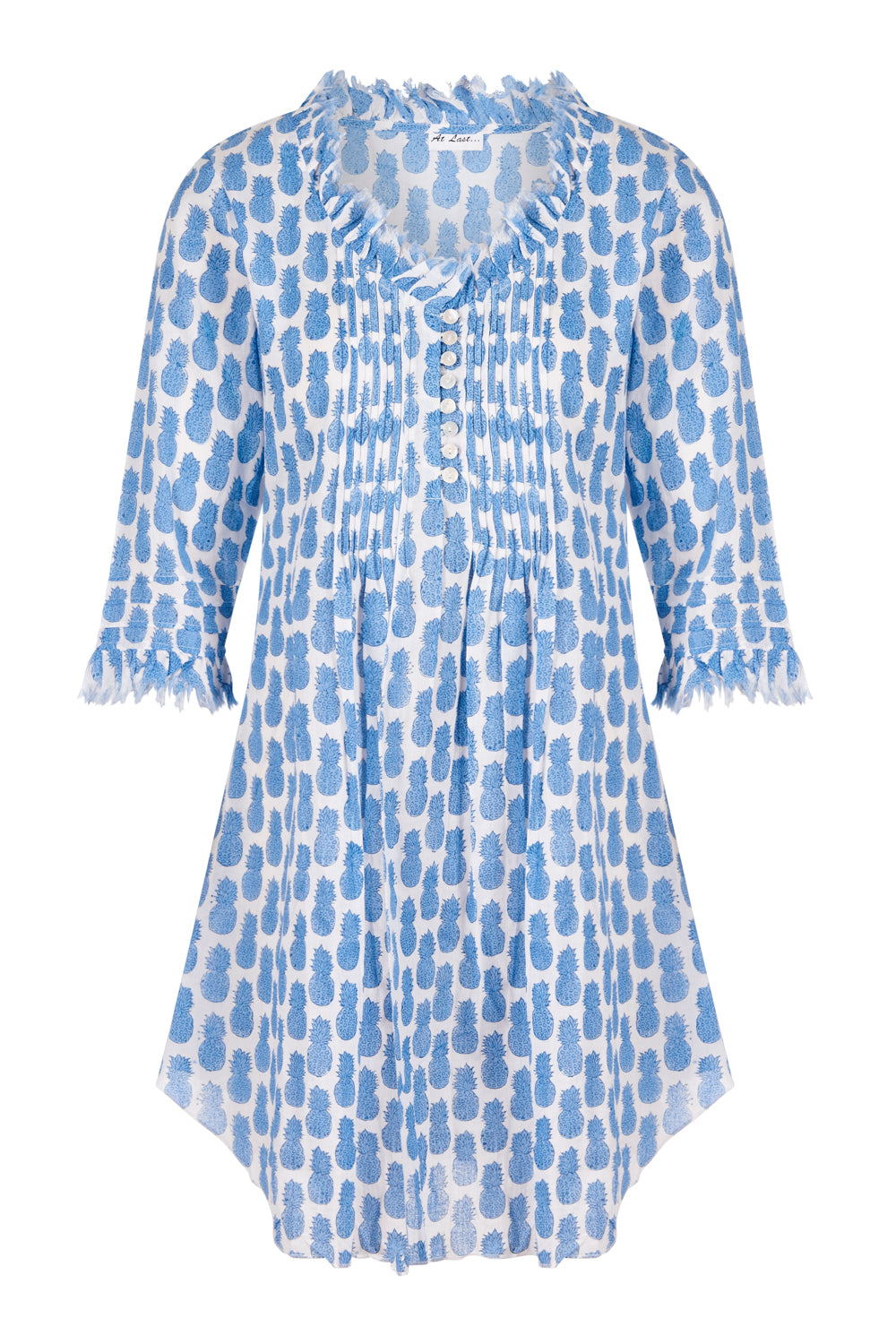 Annabel Cotton Tunic - Mini Blue Pineapples