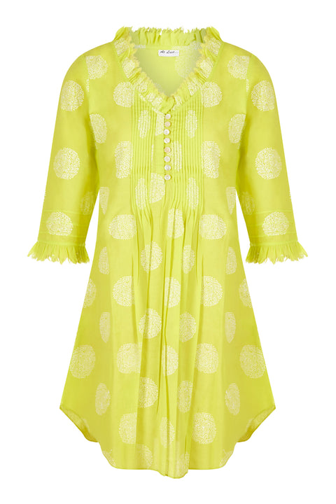 Annabel Cotton Tunic - Neon Lime
