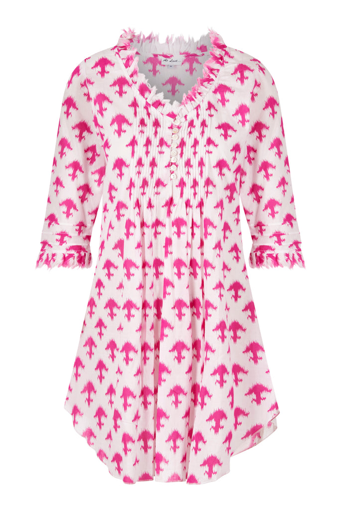 Annabel Cotton Tunic - Pink Arrow
