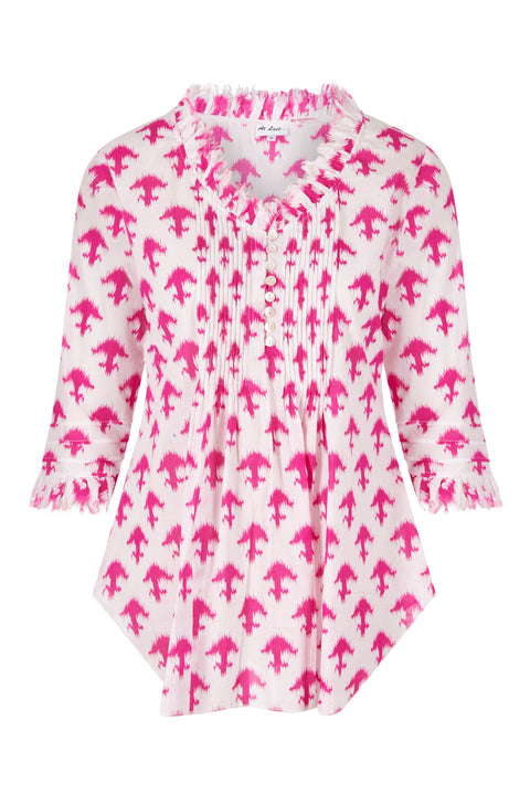 Sophie Cotton shirt - Pink Arrows