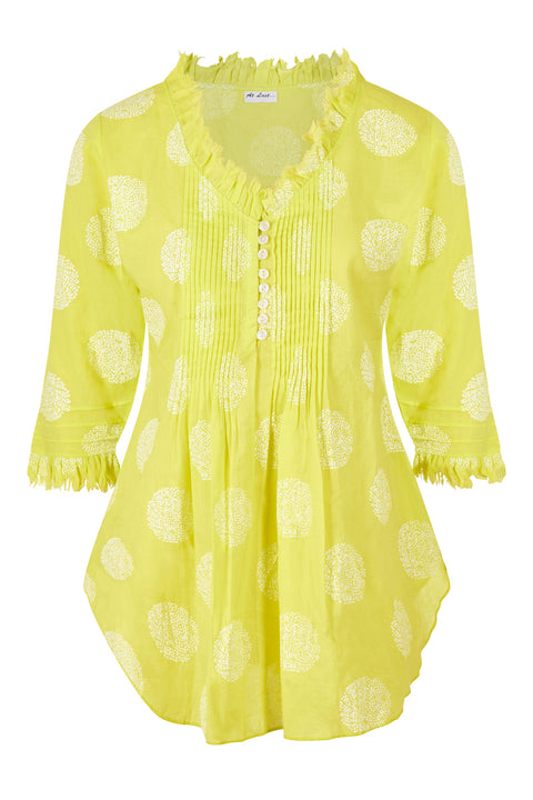 Sophie Cotton shirt - Neon Lime
