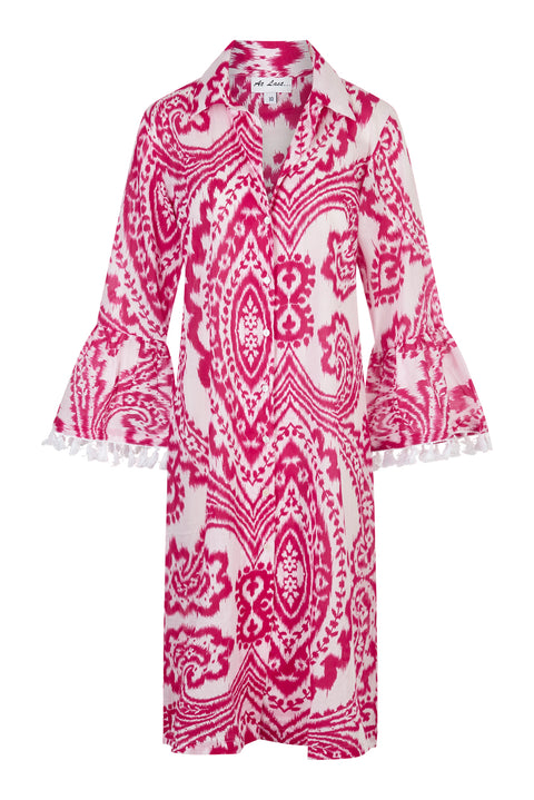 Cotton Maxi Coat - Fustian Ikat
