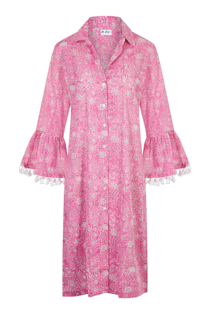 Cotton Maxi Coat - Bubblegum Pink