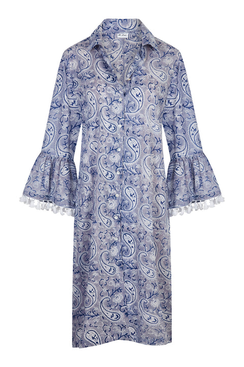Cotton Maxi Coat - Delft