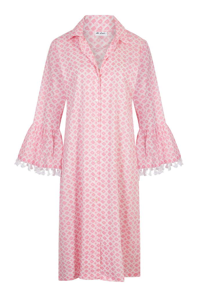 Cotton Maxi Coat - Baby Pink