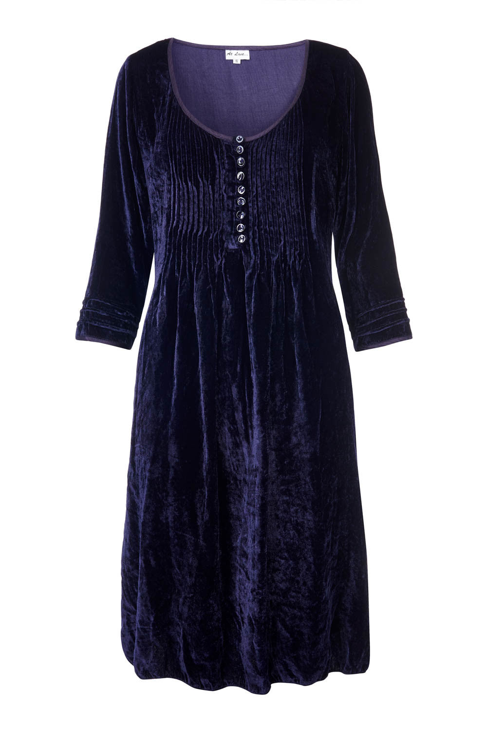 Annabel Silk Velvet Long Tunic \ Dress - Navy