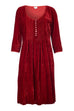 Annabel Silk Velvet Long Tunic \ Dress - Red