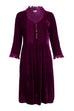 Annabel Frill Silk Velvet Long Tunic \ Dress - Fuschia