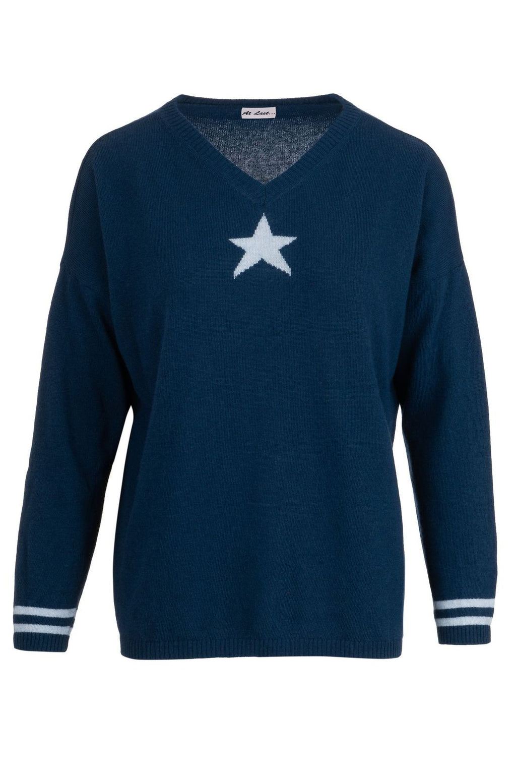 Cashmere Sweater- Navy Star