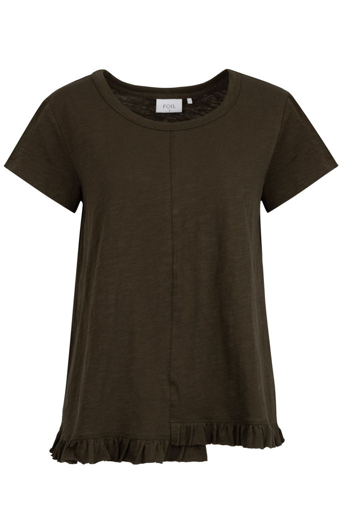 Cotton T- Shirt by 'Foil' in Khaki