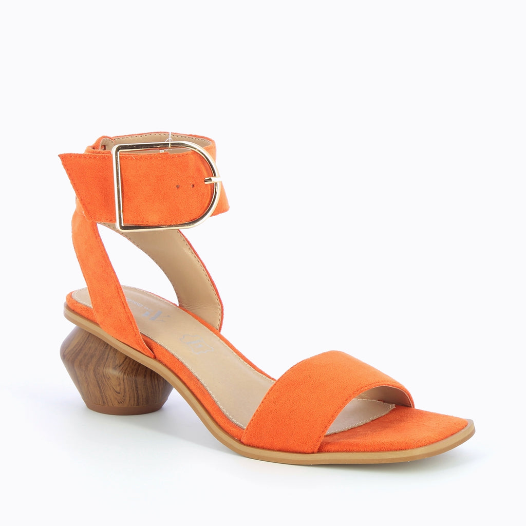 "Orange Heeled Sandal by ""Vanessa Wu'"