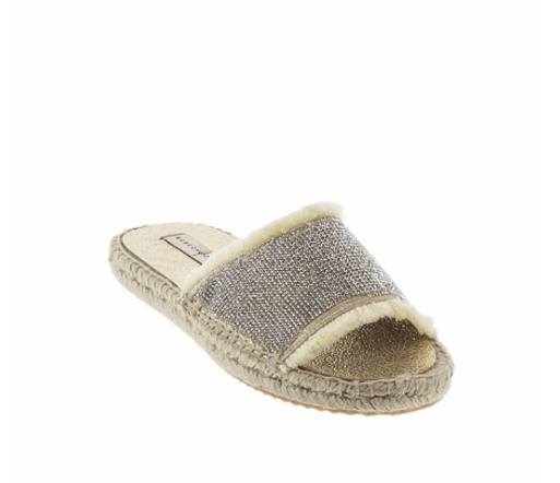 'Rebeca Sanver' Sparkle Flat Sandal