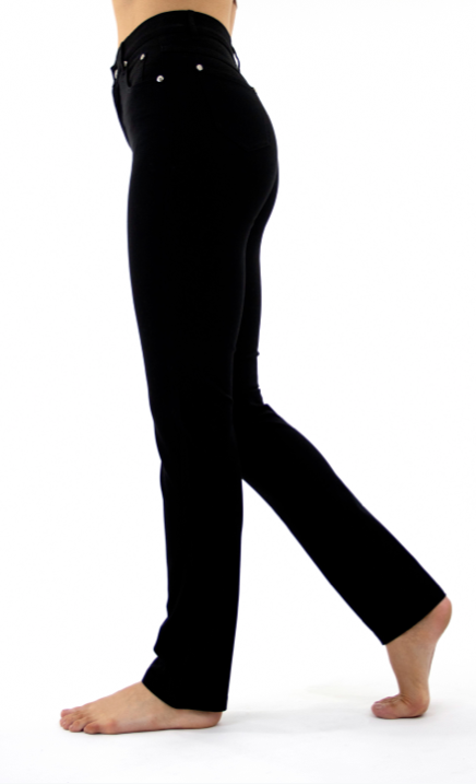 'Marble' Slim Straight Leg Jeans- Black