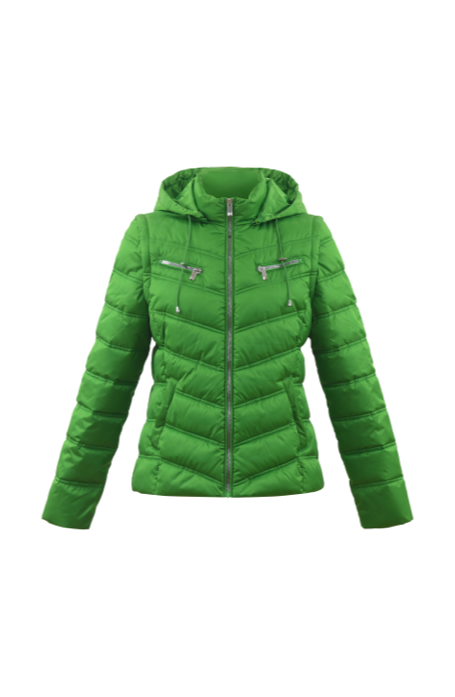 'Marble' Green Quilted Jacket