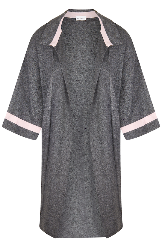 Cashmere Jacket- Pink and Grey