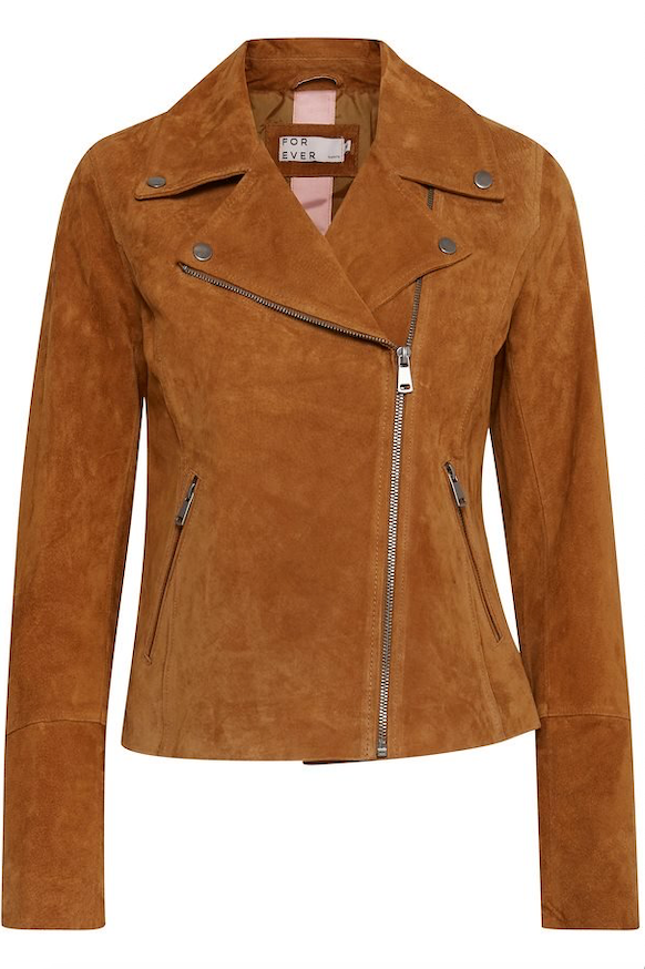 Suede Butterscotch Biker Jacket