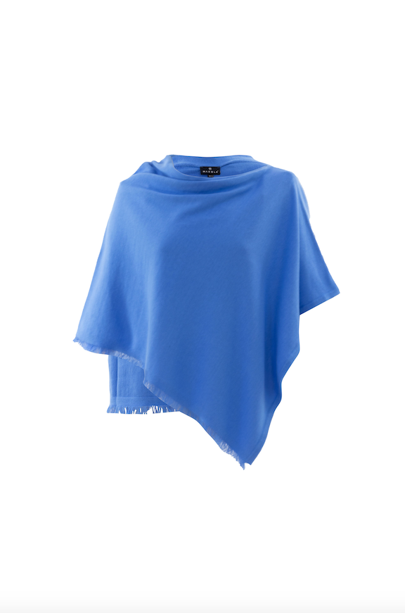 Forget-Me-Not Blue Poncho by 'Marble'
