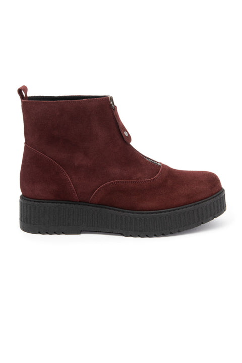 Dark Red Platform Boot