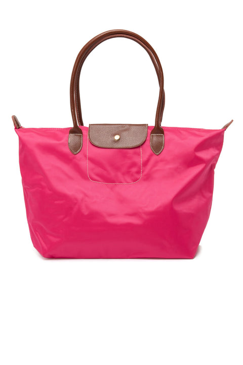 Leather Trimmed Multi-Purpose Bag Pink