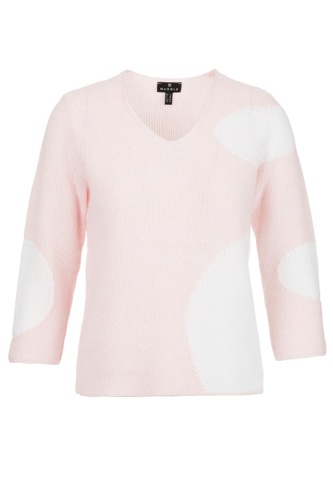 Pink with White Sweater by 'Marble'