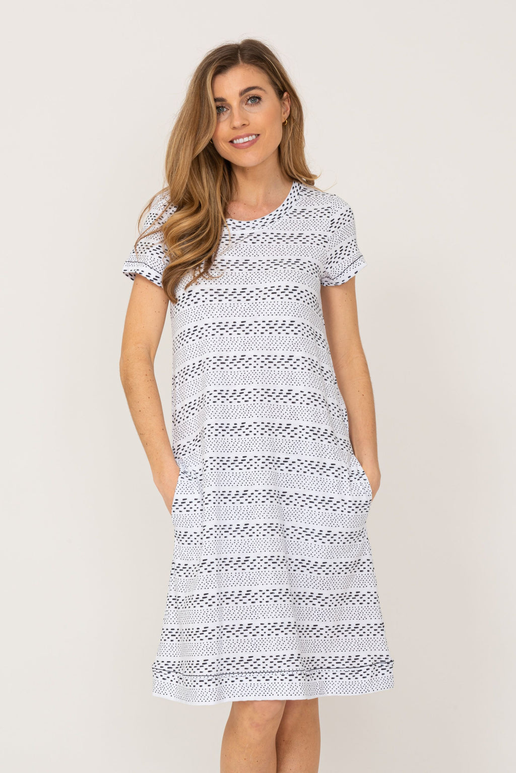 T- Shirt Dress by 'Foil' in White Dash