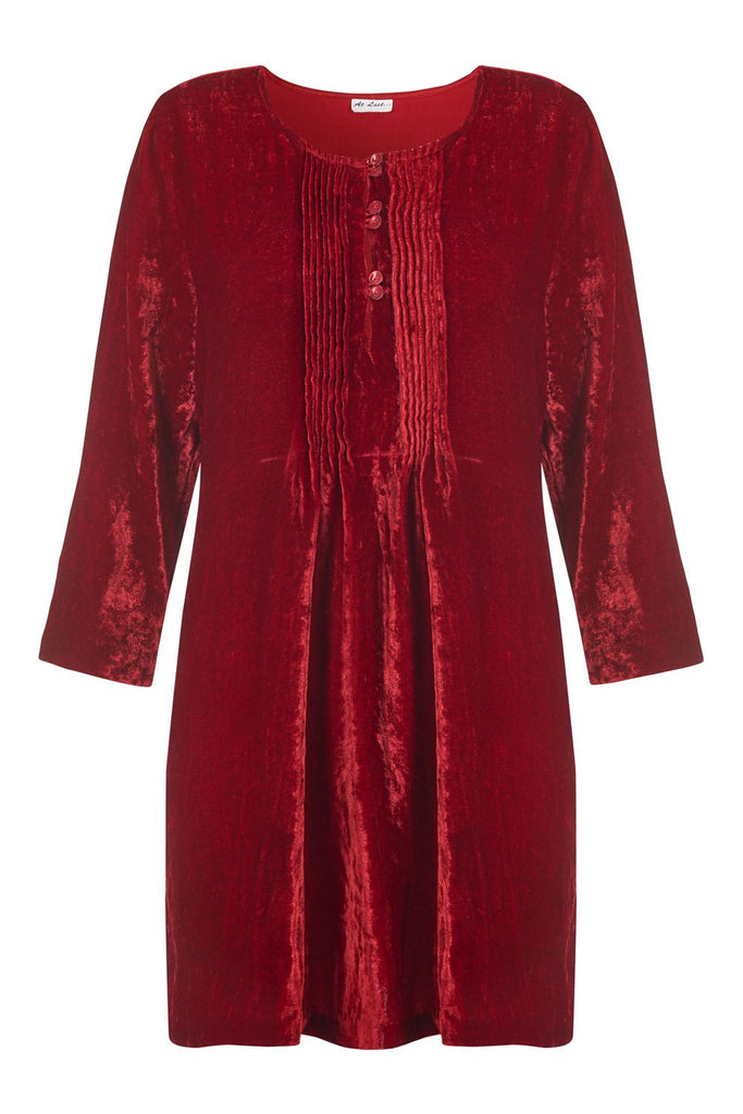 Ferragamo Velvet Tunic Red