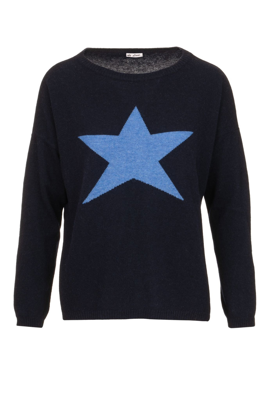 Cashmere Sweater- Large Blue Star