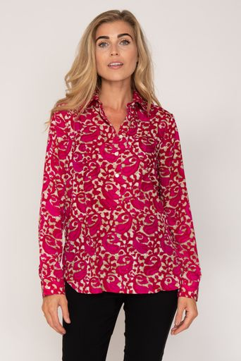 Soho Shirt with Back Detail - Hot Pink