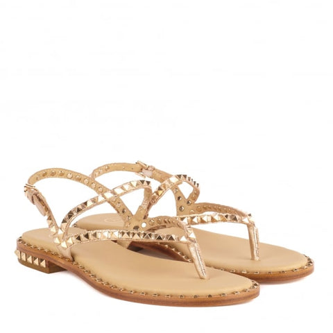 'Ash' Studded Rose Gold Sandal