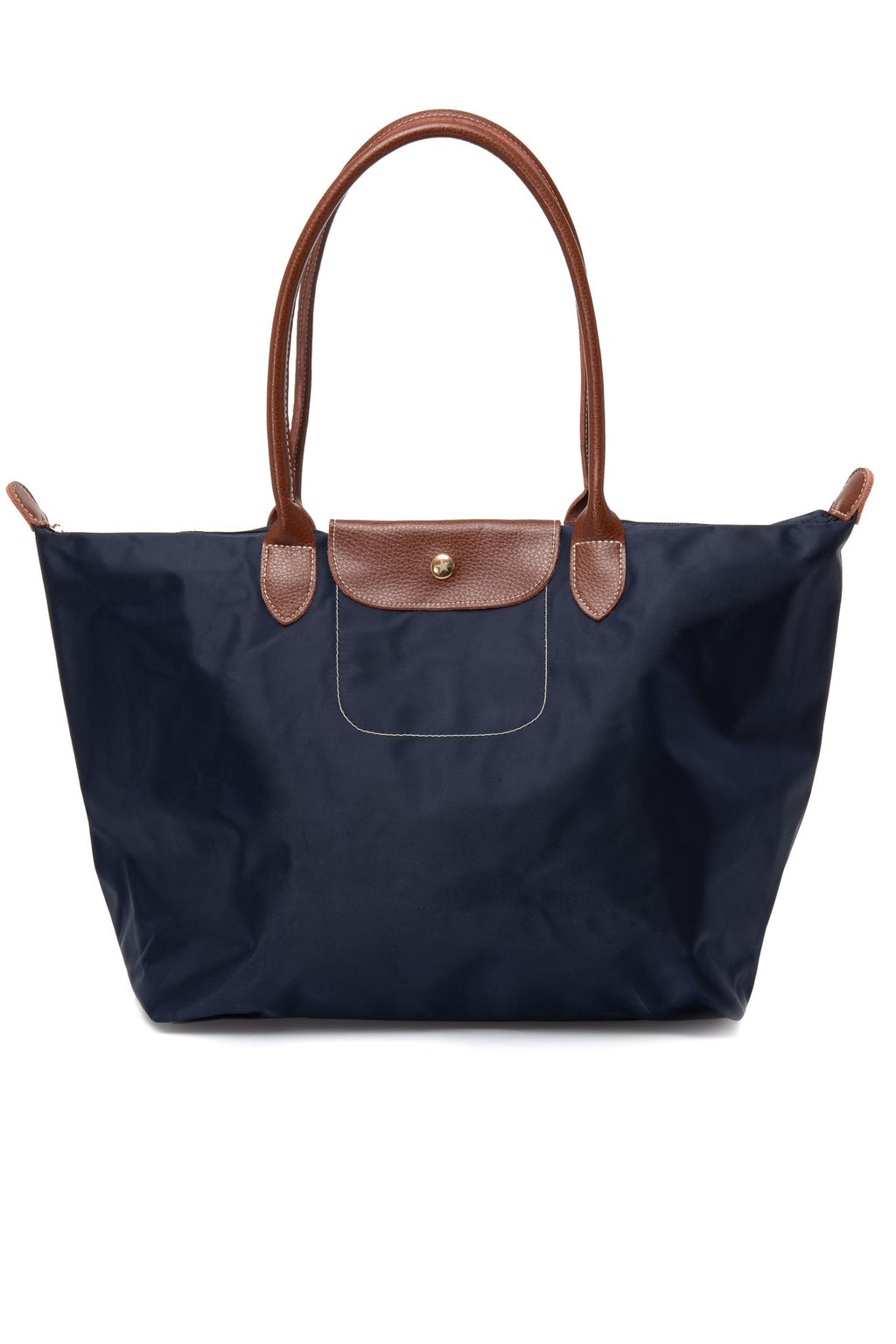 Leather Trimmed Multi-Purpose Bag Navy