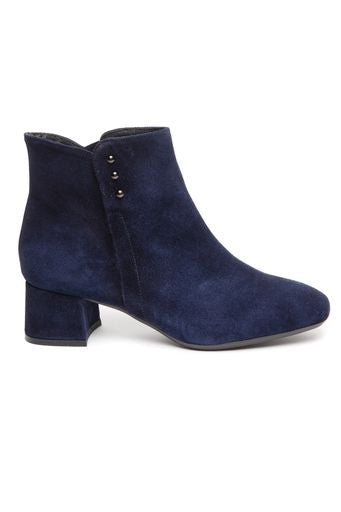 Low heel ankle boot with side detail- navy by 'Toni Pons'