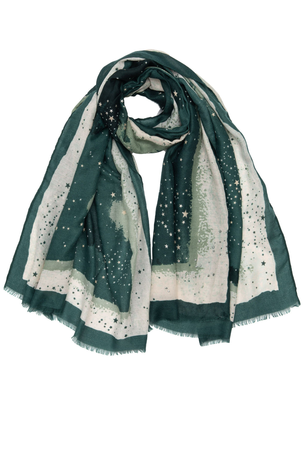 Dark Green Star Scarf