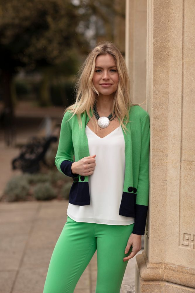 Green & Black Cardigan by 'Marble'
