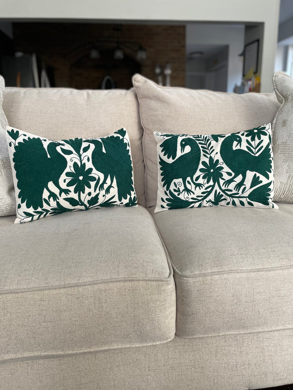Otomi pillowcase green
