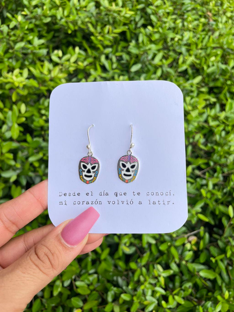 Lucha/ mask earrings (multicolor)