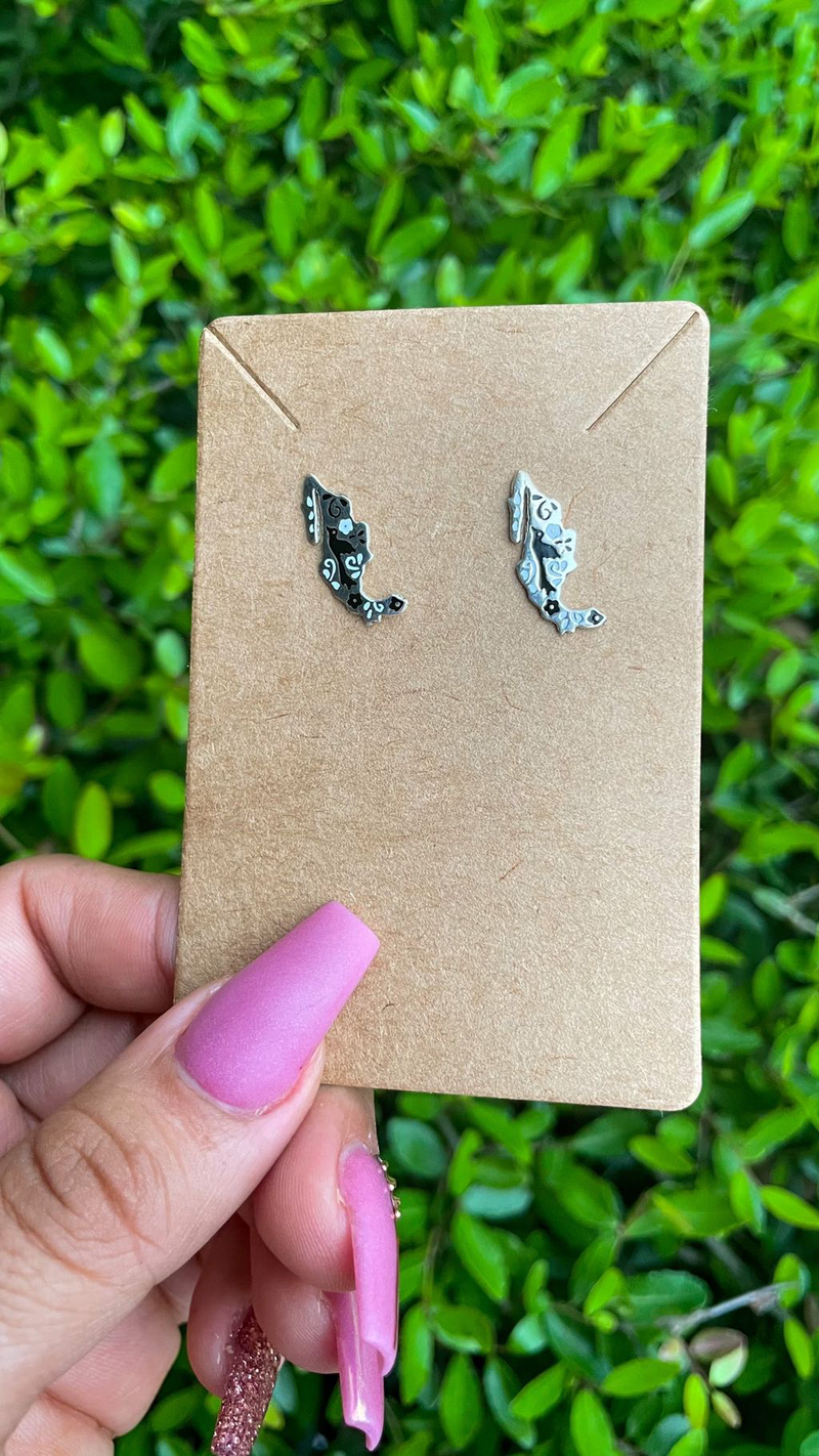 Mexico map earrings
