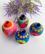 Clay ornaments (set with 4 ornaments)