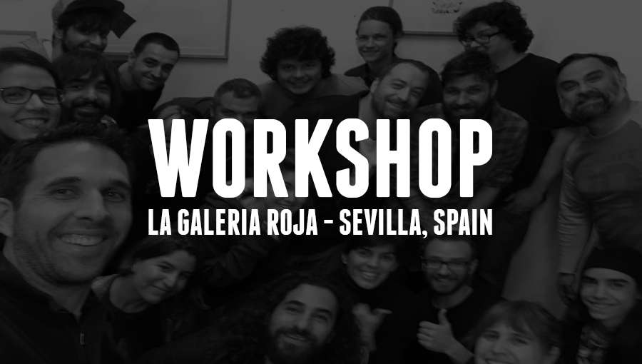 Workshop at La Galeria Roja in Sevilla, Spain